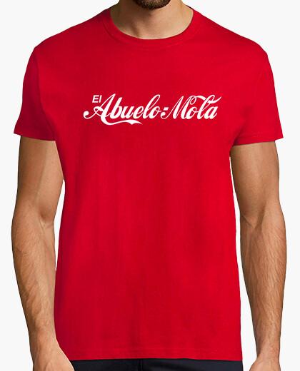 T-shirt nonno mola (coca-cola logo) sfondo rosso