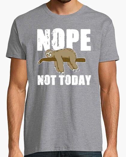 Camiseta Nop NOt Today Sloth Gift Idea