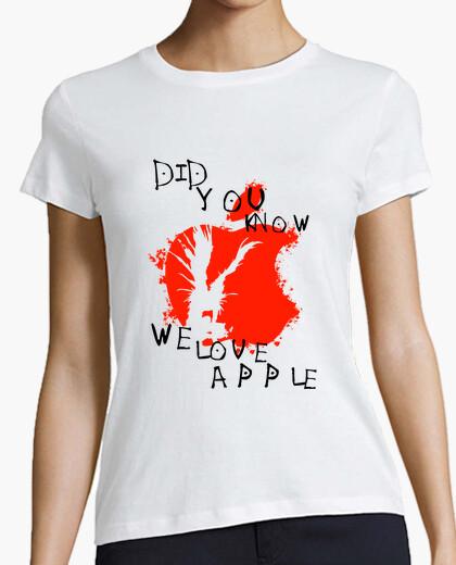 Camiseta nos encanta la manzana - nota de la muerte
