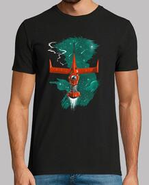 nos vemos en camiseta espacial para hombre