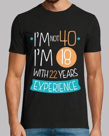 not 40, not 18 anni con 22 anni di esperienza, 1980