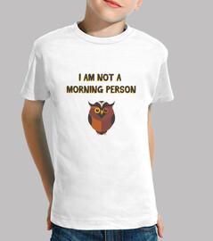 not sono una persona mattiniera