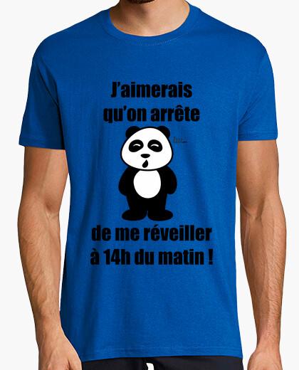 Not the morning - panda t-shirt