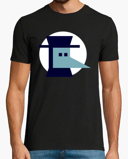 Tee-shirt Nota bene bleu marine et bleu clair