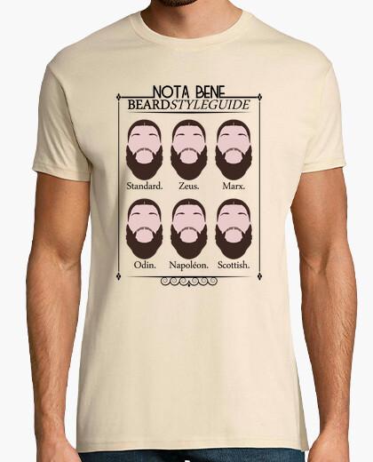 T-shirt notabene beard style guida