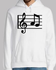 notas clave de la música