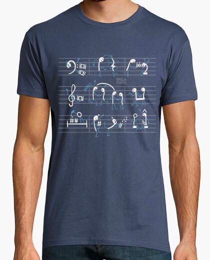 Camiseta Notas en pentagrama bailando
