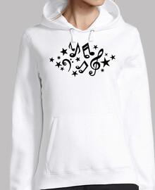 notas musicales estrellas