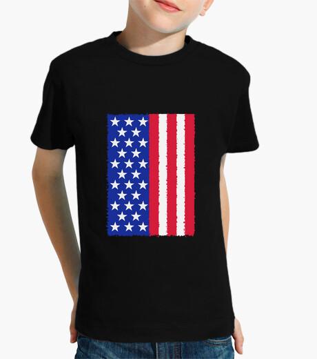 Vêtements enfant nous étoiles et rayures drapeau