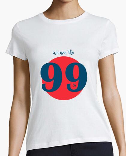 Tee-shirt nous sommes à 99% (bleu)