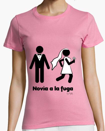 Camiseta ¡Novia a la fuga!