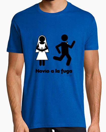 Camiseta ¡Novio a la fuga!