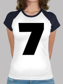 número 7 siete