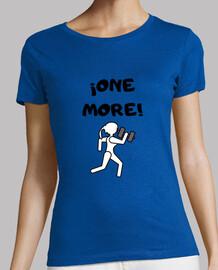 Nueva camiseta sin mangas con diseño (one more) para mujer.