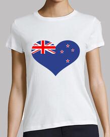 nueva zelanda bandera del corazón