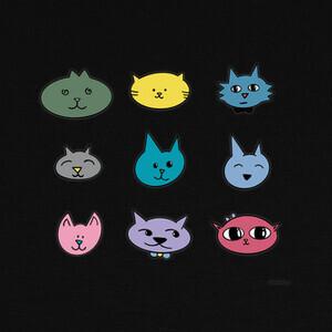 Camisetas Nueve gatos