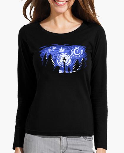 Tee-shirt nuit d'hiver étoilé