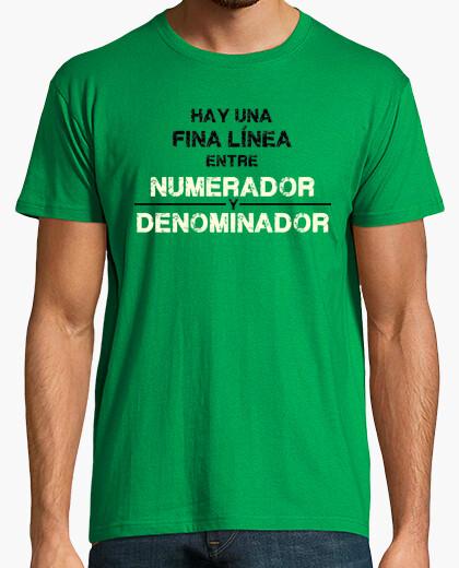 Camiseta Numerador y Denominador
