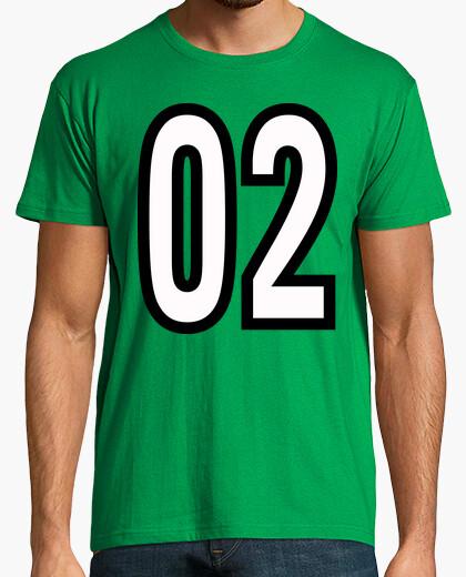 Camiseta Número 02 (ambos lados)