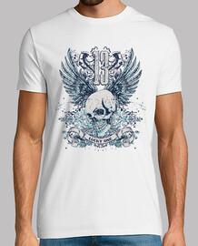 numéro 13 de la chemise de skull vintage rétro