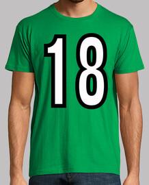 Número 18 (ambos lados)