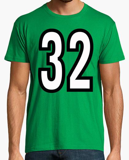 Camiseta Número 32 (ambos lados)