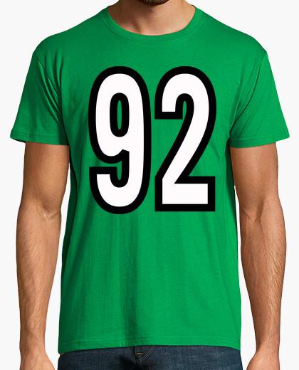 Camiseta Número 92 (ambos lados)