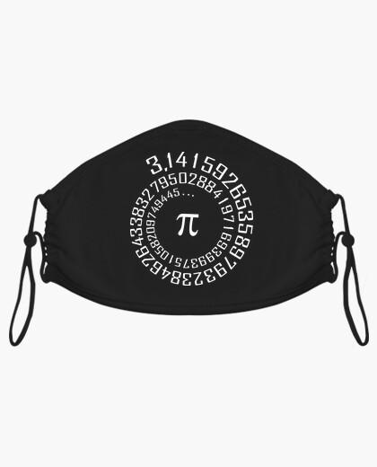 Mascarilla Número Pi - Camiseta Maths