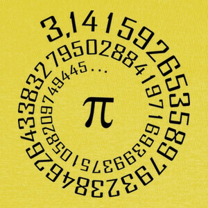 Camisetas número Pi - Maths -