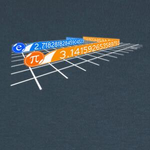 Camisetas número pi y número de euler en TRON