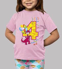 numero quarto compleanno 4 bambina