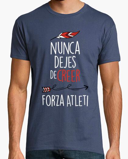 Camiseta Nunca Dejes De Creer - Forza Atleti (Hombre) Fondo Azul