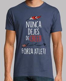 Nunca Dejes De Creer - Forza Atleti (Hombre) Fondo Azul