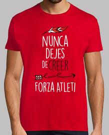 Nunca Dejes De Creer - Forza Atleti (Honbre) Fondo Rojo