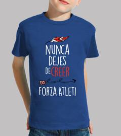 Nunca Dejes De Creer - Forza Atleti (Niño) Fondo Azul