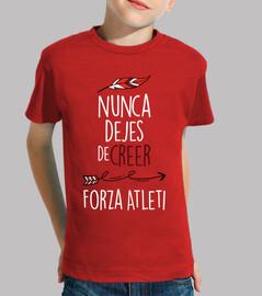 Nunca Dejes De Creer - Forza Atleti (Niño) Fondo Rojo