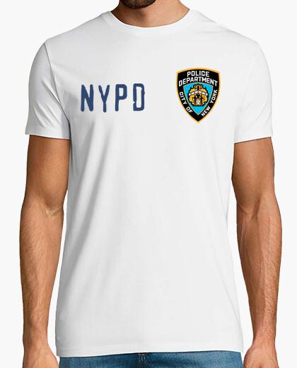Camiseta NYPD type 1, manga corta, blanco