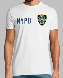 NYPD type 1, manga corta, blanco