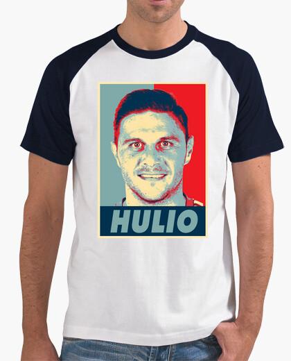 Camiseta Obey Hulio, Hombre, estilo béisbol, blanca y azul marino