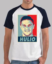 obey hulio, uomo, stile baseball, bianca e blu bianca