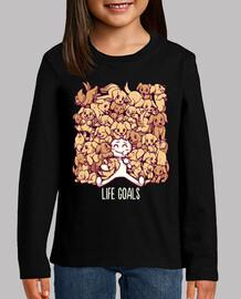 objetivos de vida - camiseta de niños