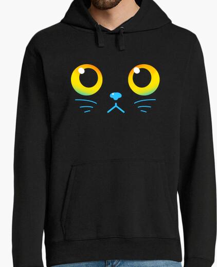 Felpa occhi curiosi - gatto nero