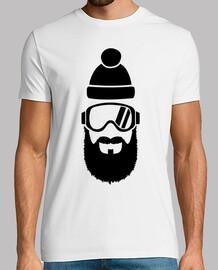 occhiali da sci piena barba