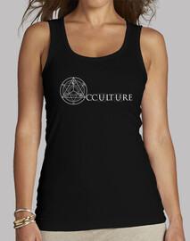 occulture logo canotta bianca donna top