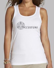 occulture tank logo in alto donna di colore