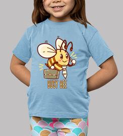 occupé abeille - abeille occupé - chemise d'enfants