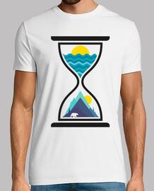 Océano y tiempo de montaña
