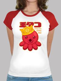 Octopus King Camiseta Chica Bicolor
