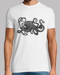 octopus zentangle männer t-shirt