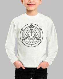 ocultura camisa círculo negro niño